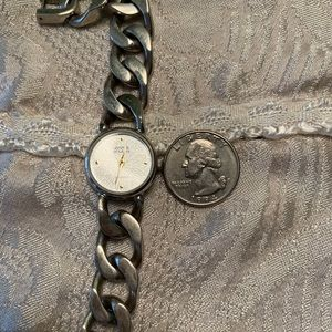Anne Klein Silver Chain Link Watch